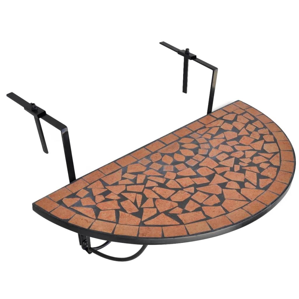 Hängbord Balkongbord Terrakotta brunt