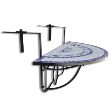Klapptisch Balkontisch Hängetisch Balkonhängetisch Mosaik B[2/6]