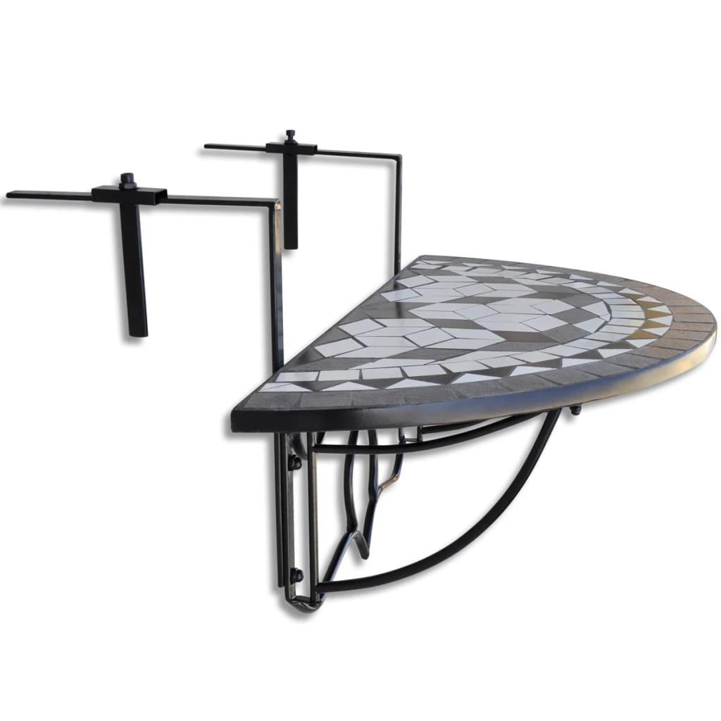 handla h ngbord balkongbord terrakotta svart vit. Black Bedroom Furniture Sets. Home Design Ideas