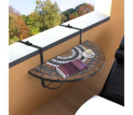 Klapptisch Balkontisch Hängetisch Balkonhängetisch Mosaik D