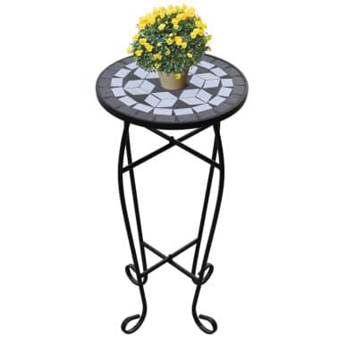 articoli per tavolino piante modello mosaico bianco e nero