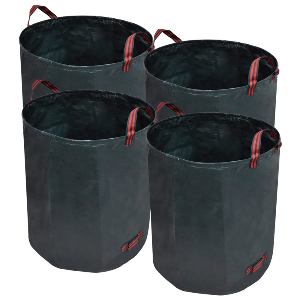 vidaXL Garden Waste Bag Dark Green 4 pcs 272 L 150 g/sqm