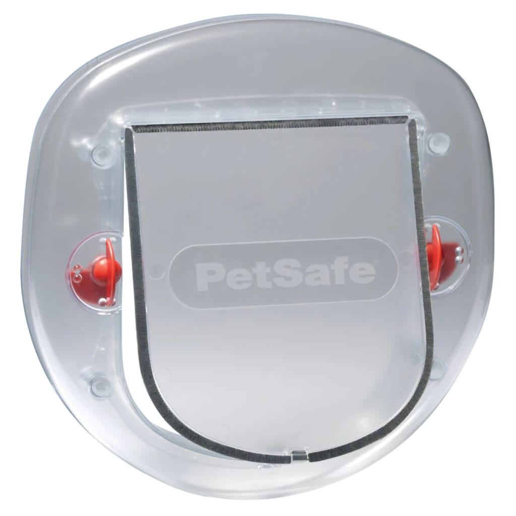 Afbeelding van PetSafe kattenluikje grote kat transparant 4 standen