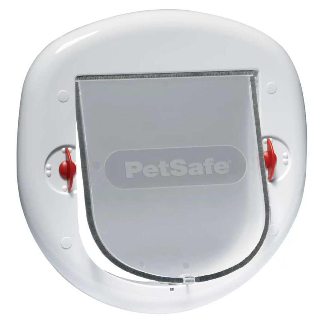 Afbeelding van PetSafe kattenluikje grote kat/kleine hond wit 4 standen 280