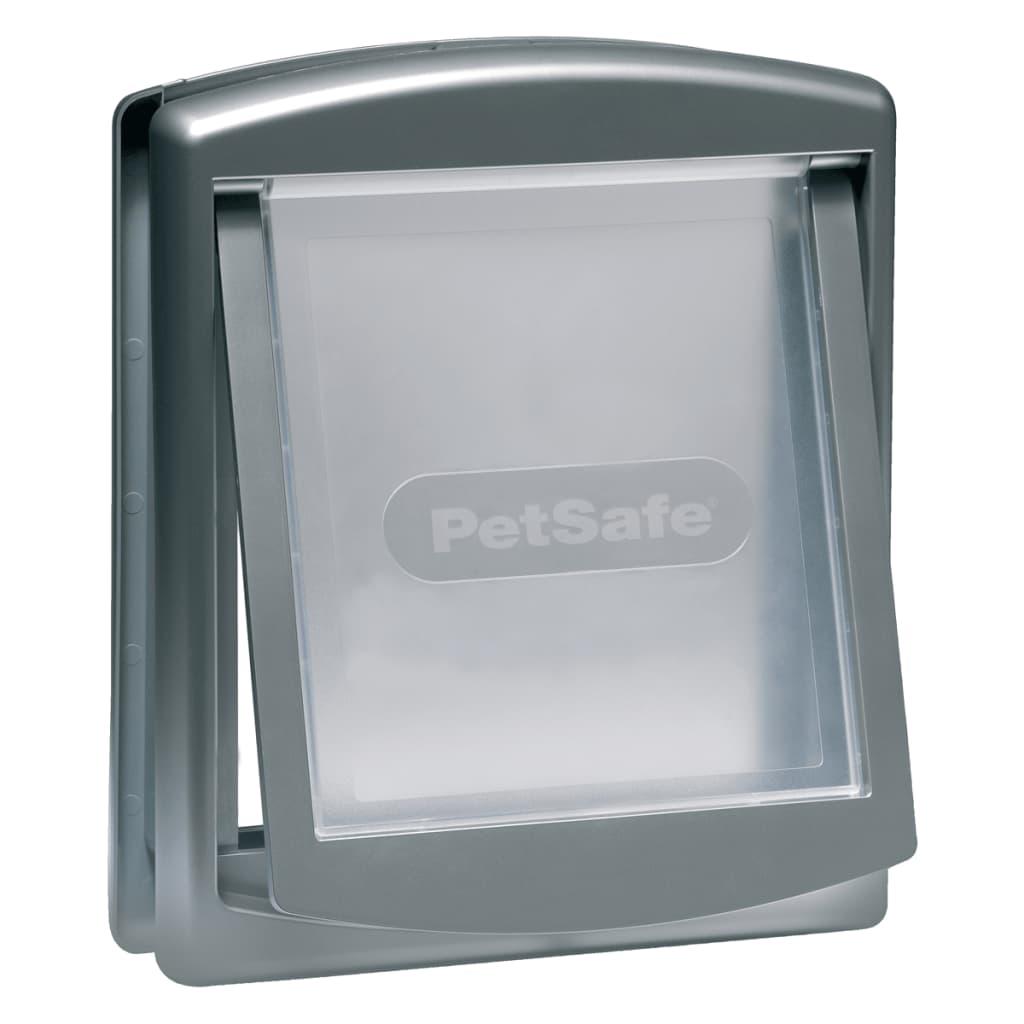 Afbeelding van PetSafe Huisdierenluik in 2 richtingen 757 Medium 26,7 x 22,8 cm zilver 5022