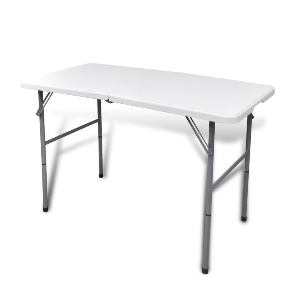 acheter table de jardin en hdpe pliable blanc 122 cm pas cher. Black Bedroom Furniture Sets. Home Design Ideas