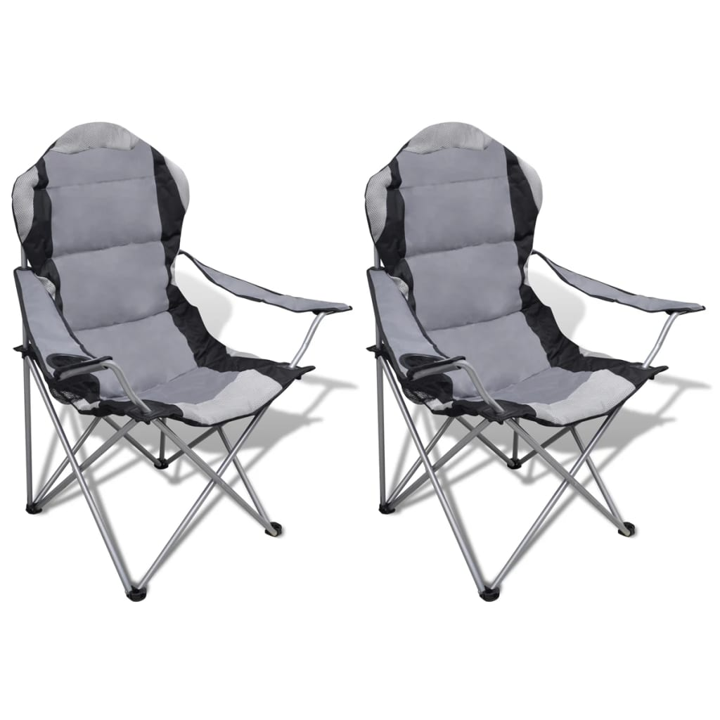 klappstuhl set 2 st ck camping st hle xxl mit tasche grau g nstig kaufen. Black Bedroom Furniture Sets. Home Design Ideas