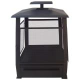 Esschert Design Estufa de leña de metal pagoda 59x59x78cm negra FF122