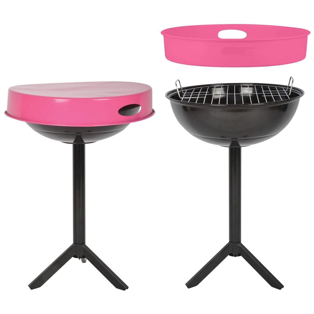 la boutique en ligne esschert design table de barbecue acier au carbone rose ff250. Black Bedroom Furniture Sets. Home Design Ideas