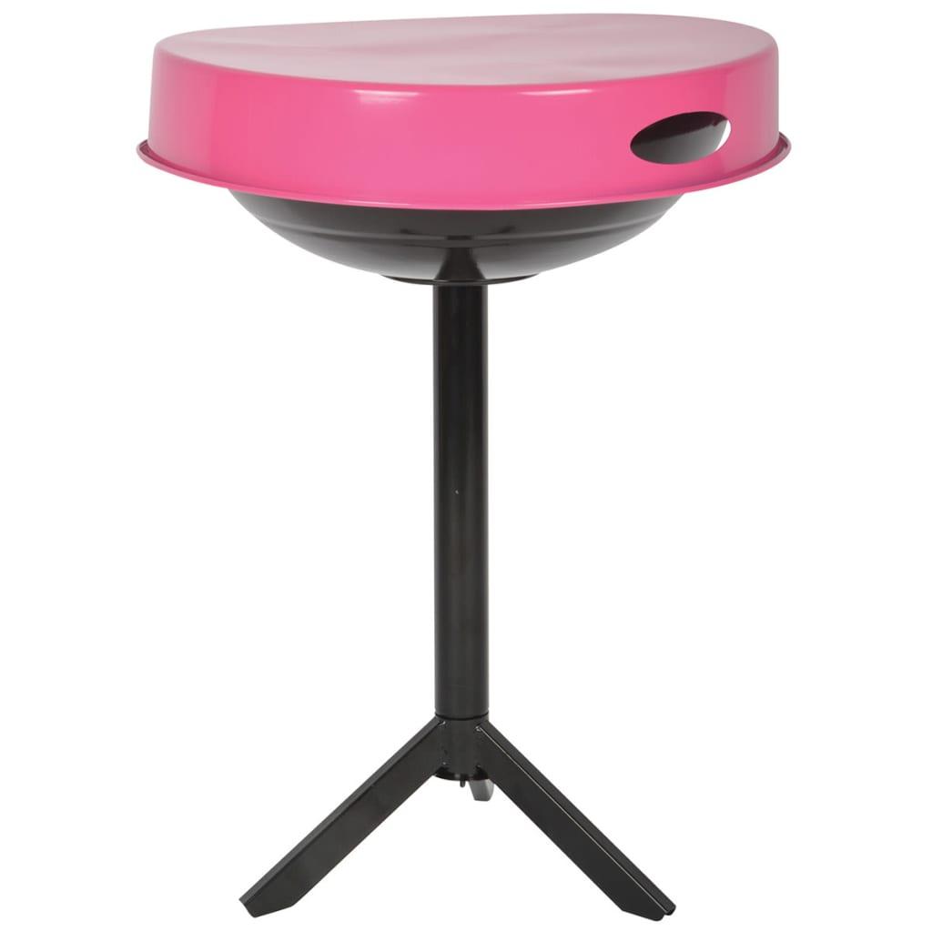 Esschert design mesa para barbacoa acero de carbono rosa ff250 - Mesa para barbacoa ...