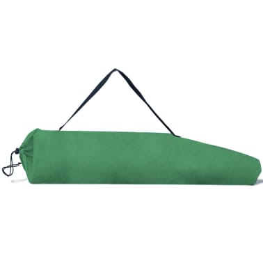 Folding Chair Set 2 pcs Camping Outdoor Chairs with Bag Green[6/6]