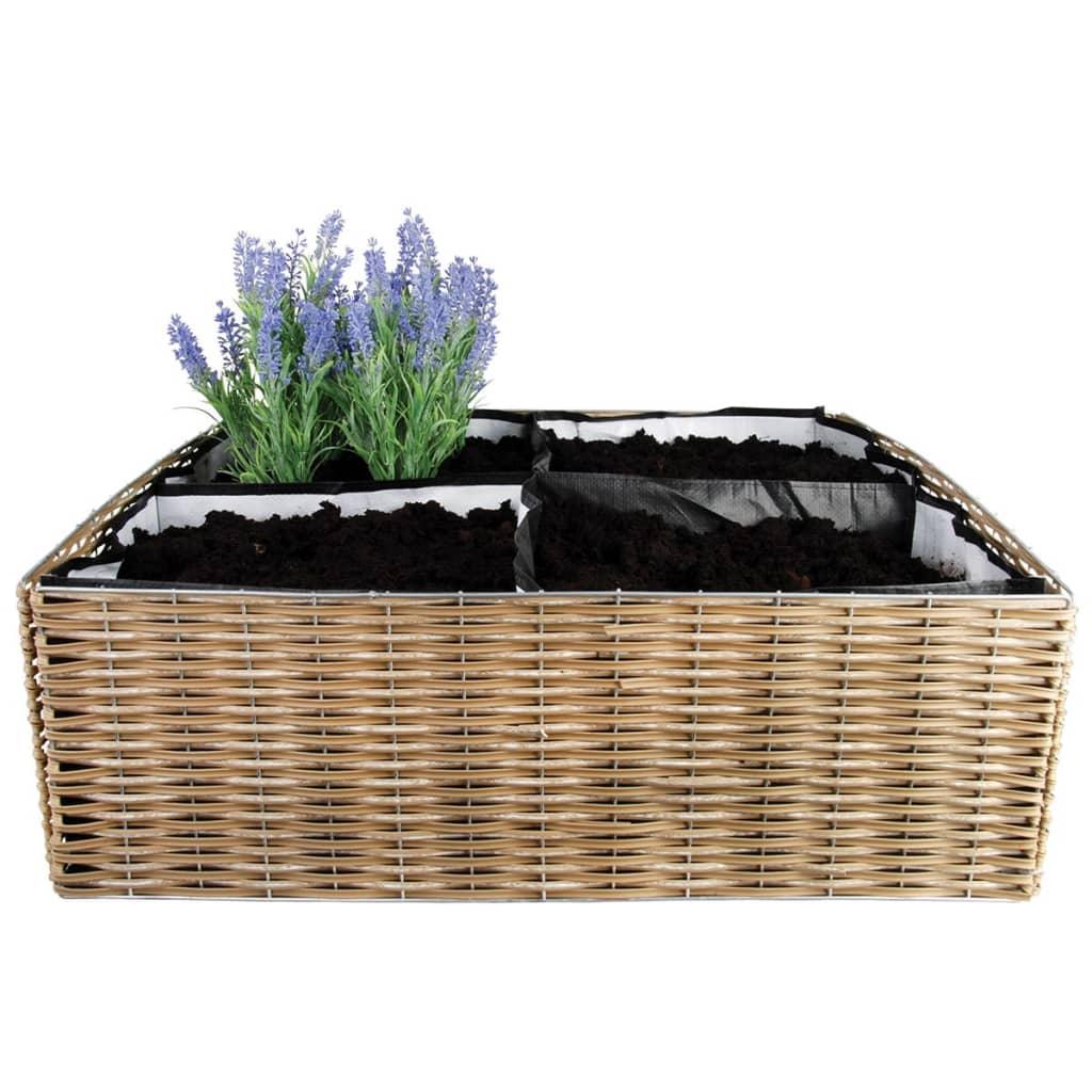 Esschert Design B1006 virágtartó 59,5x59,5x20 cm barna