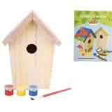 Esschert Design ptičja hišica DIY z barvo 14.8x11.7x20 cm KG145