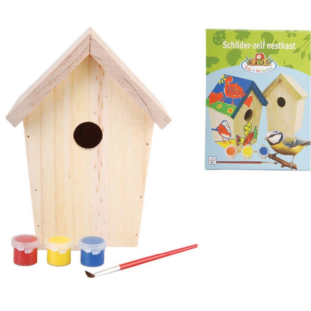 Esschert Design design DIY Fészekrakó doboz festék 14.8x11.7x20 cm KG145