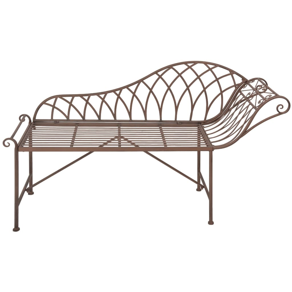 Esschert design chaise longue metal old english style for Chaise longue designer