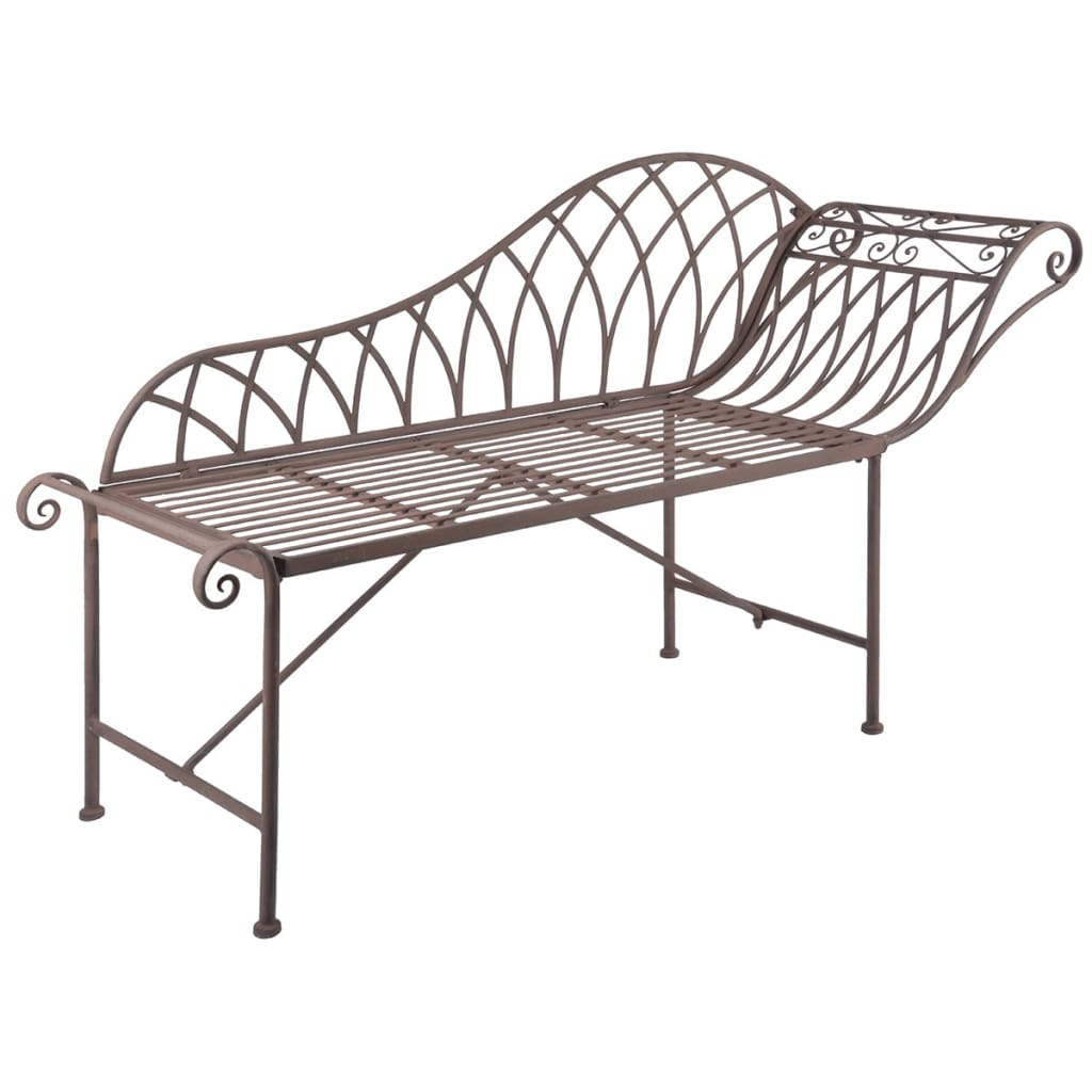 Esschert design chaise longue metal old english style for Chaise longue in english