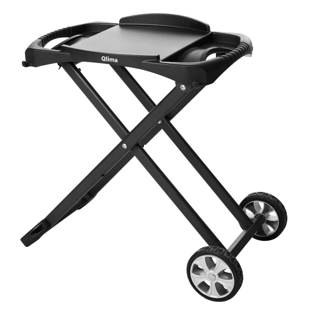 acheter qlima chariot de barbecue pliable noir pc pg 10 pas cher. Black Bedroom Furniture Sets. Home Design Ideas