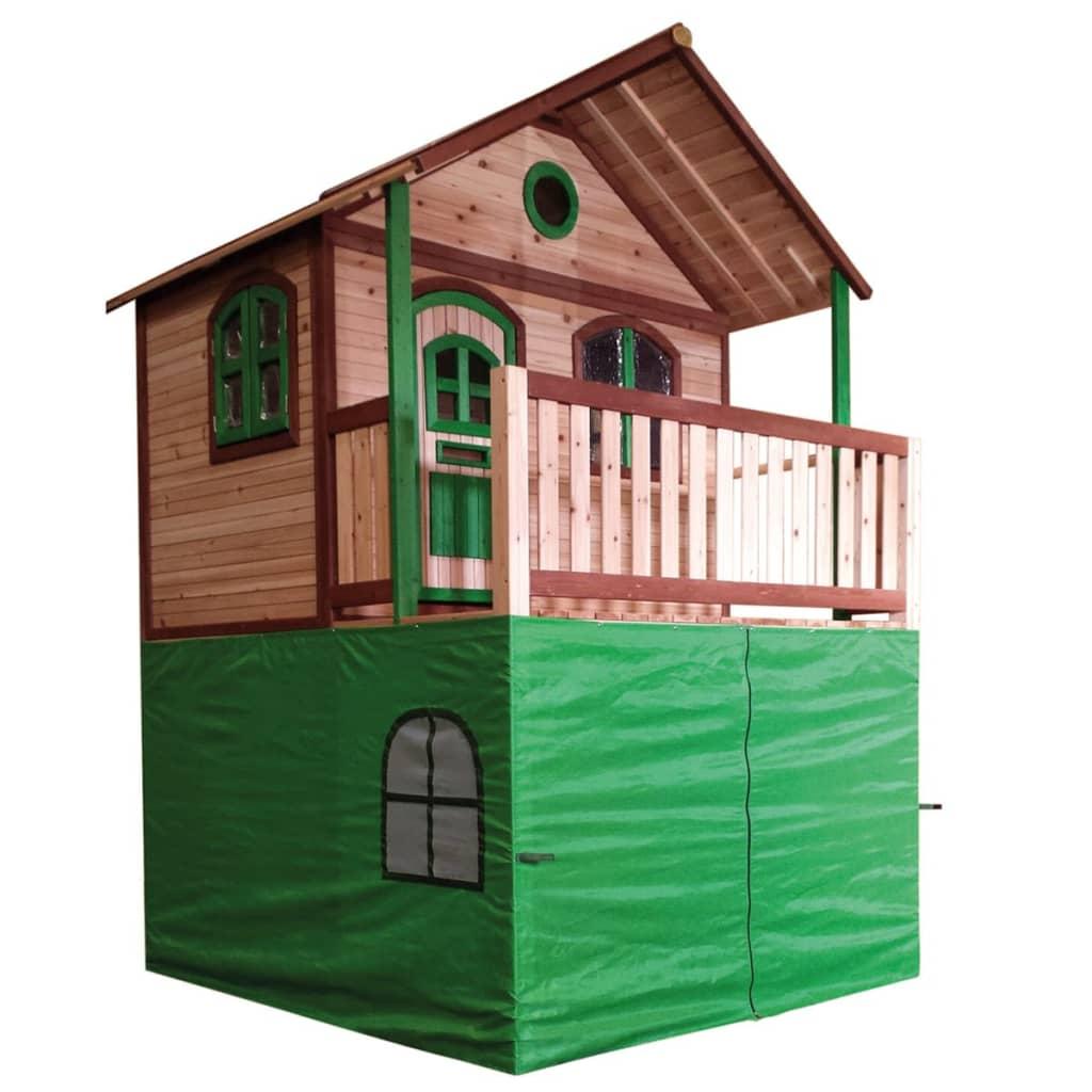 Axi tenda per casa per bambini in plastica verde - Casa plastica per bambini ...