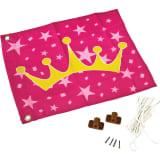 AXI Flagge Prinzessin Krone Rosa und Gelb 55x45 cm A507.010.00