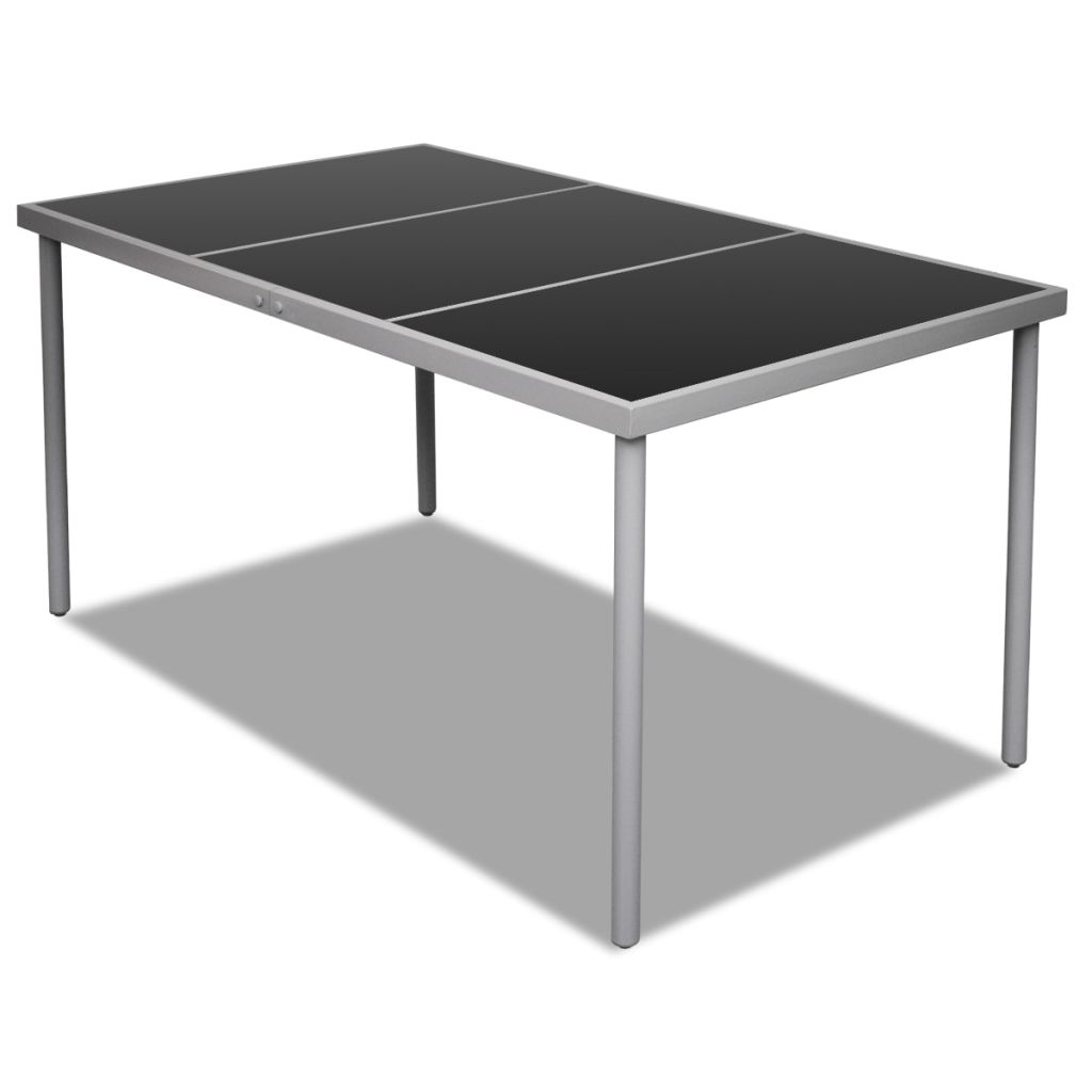 Dining table 150 x 90 x 74 cm glass top outdoor for Table induction 90 cm