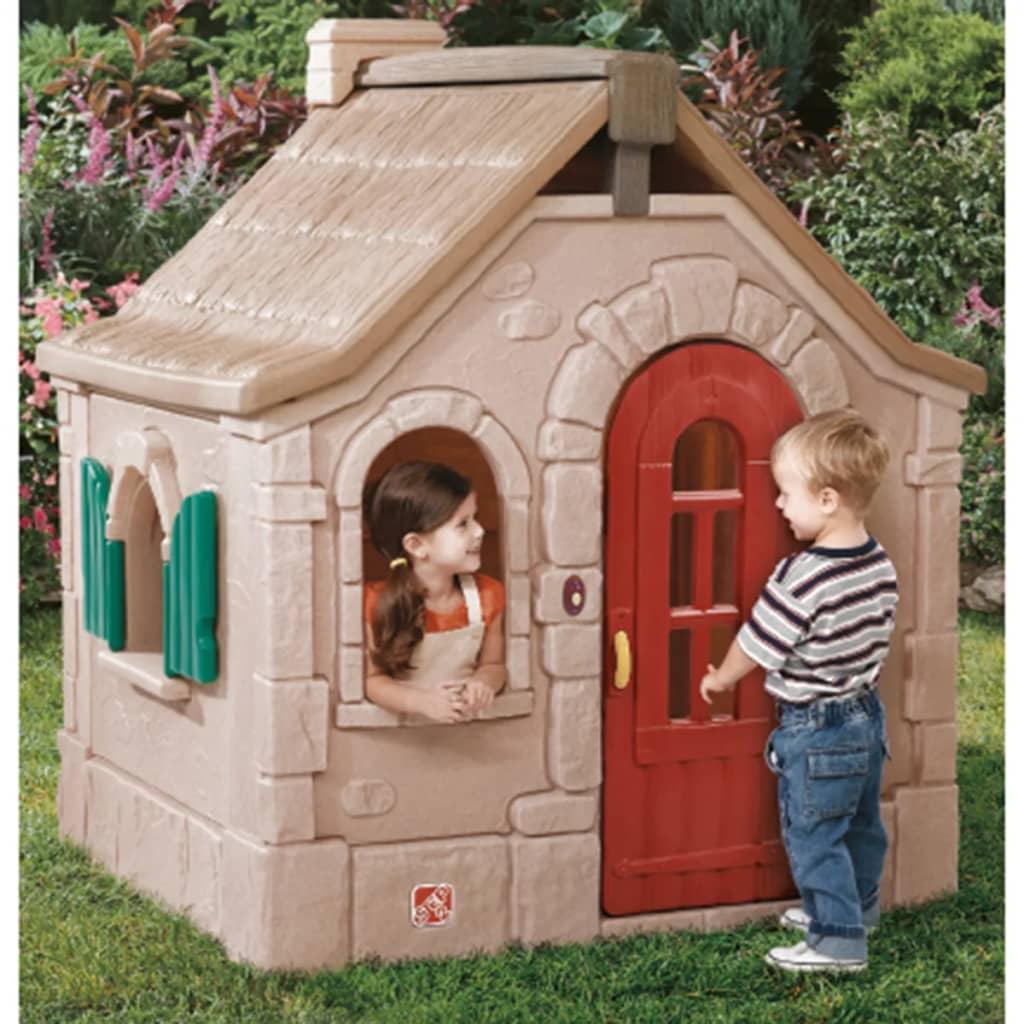 acheter step2 maison de jeu chalet romanesque pas cher. Black Bedroom Furniture Sets. Home Design Ideas