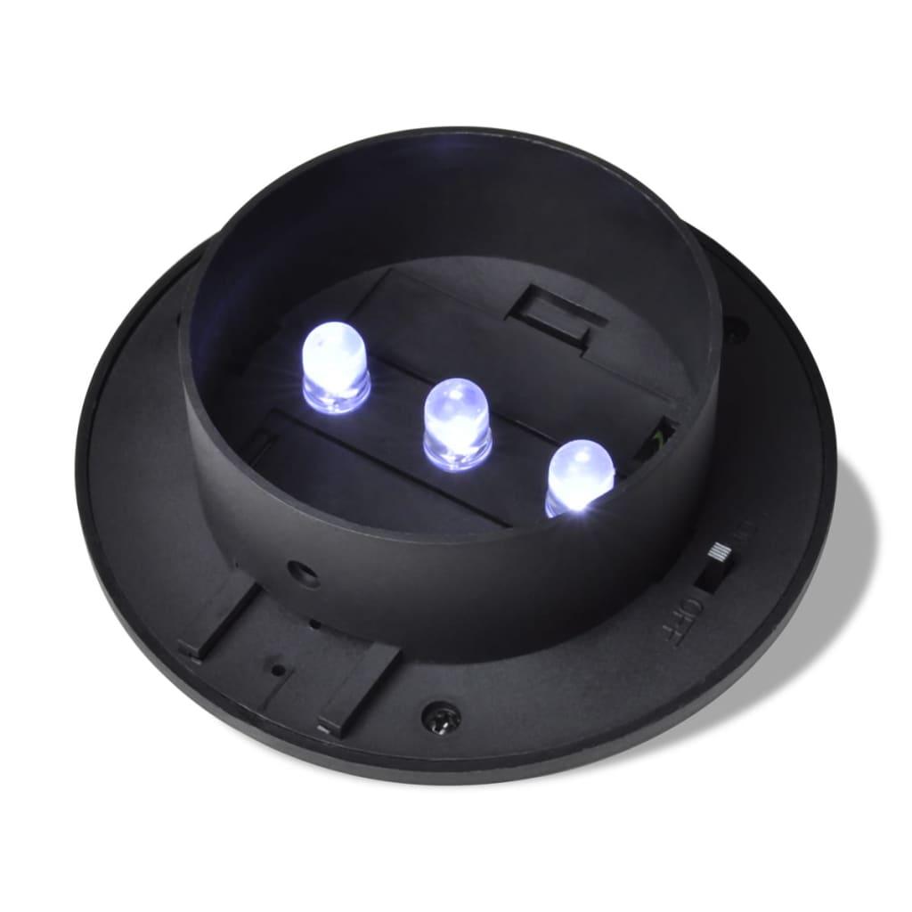 der 6x au enlampe sonnenlichtset zaunlicht schwarz online shop. Black Bedroom Furniture Sets. Home Design Ideas