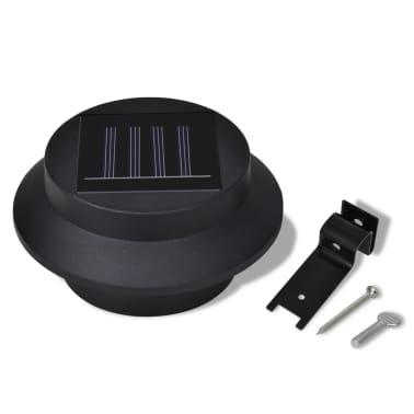 Lampe solaire 3 LED pour clôture / gouttière / jardin Noir 6 pcs[7/9]