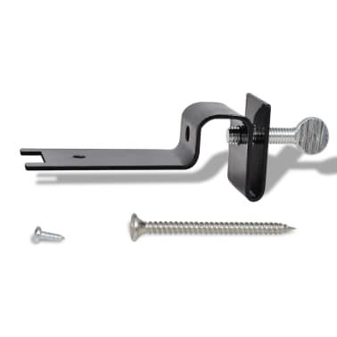 Lampe solaire 3 LED pour clôture / gouttière / jardin Noir 6 pcs[8/9]