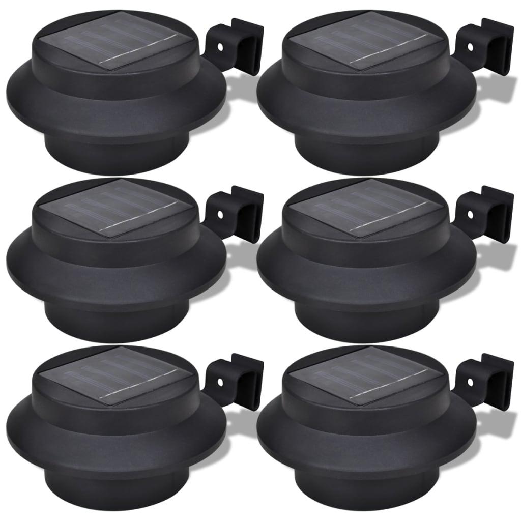 vidaxl-outdoor-solar-lamp-set-6-pcs-fence-light-gutter-black