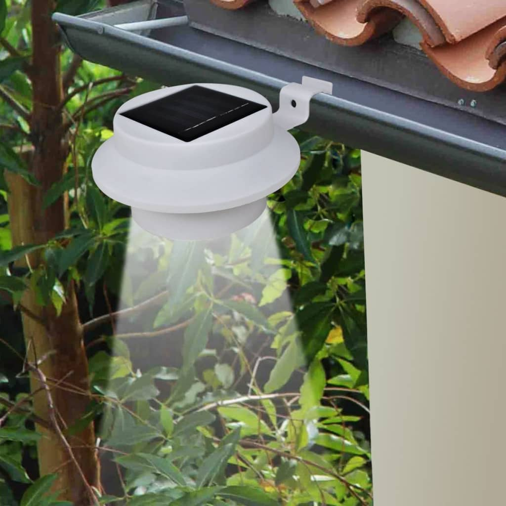la boutique en ligne lampe solaire 3 led pour cl ture goutti re jardin blanc 6 pcs. Black Bedroom Furniture Sets. Home Design Ideas