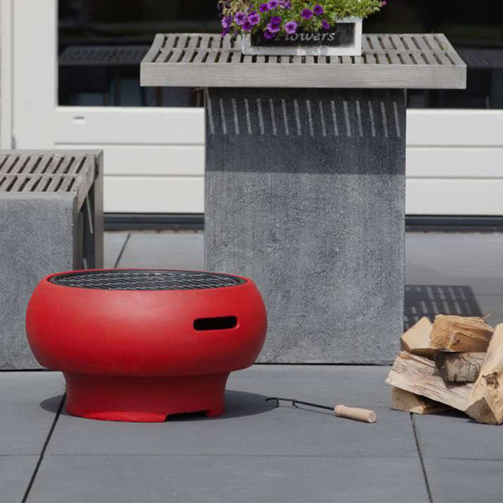 BBGRILL Draagbare barbecue rood BBQ TUB-R
