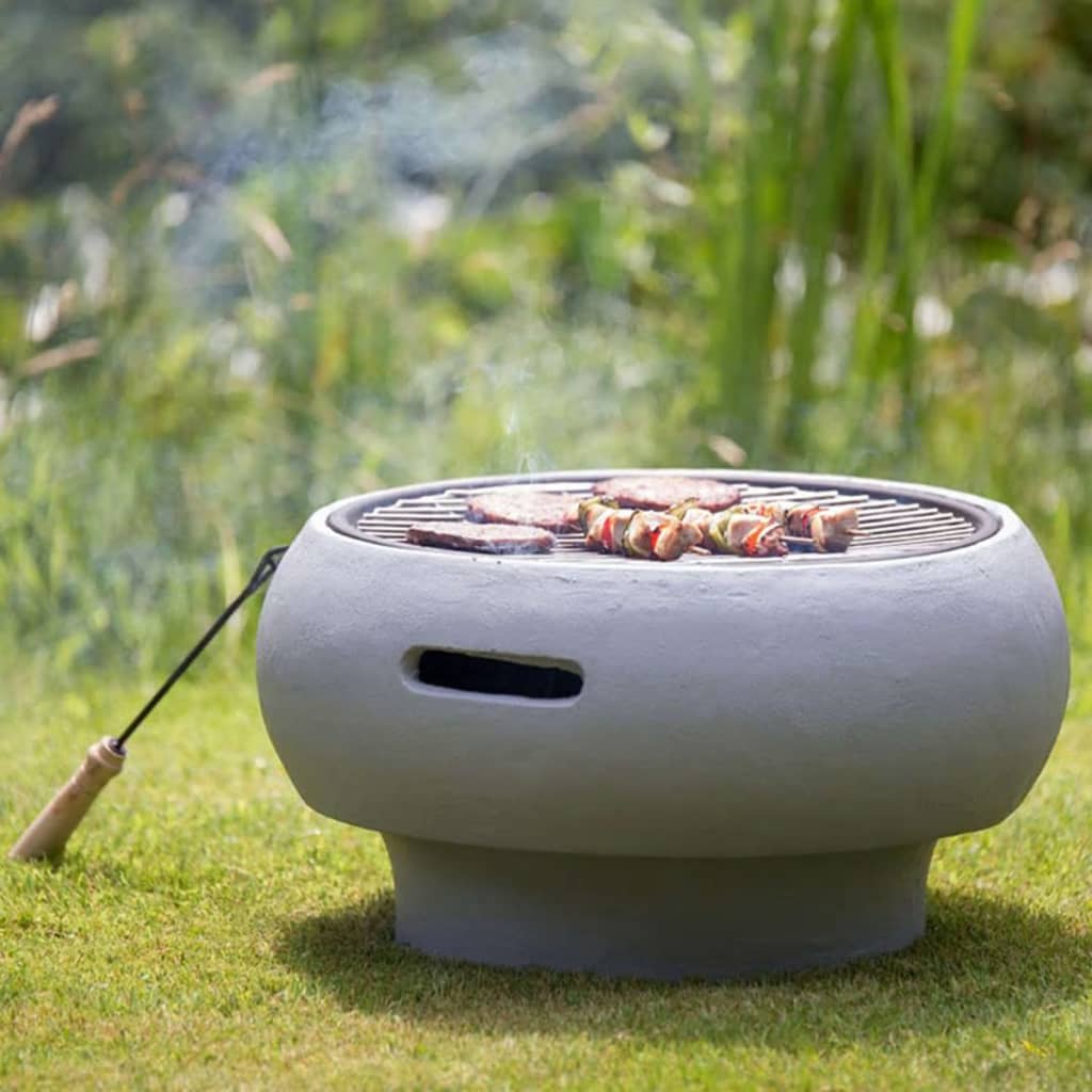 BBGRILL Draagbare barbecue grijs BBQ TUB-G