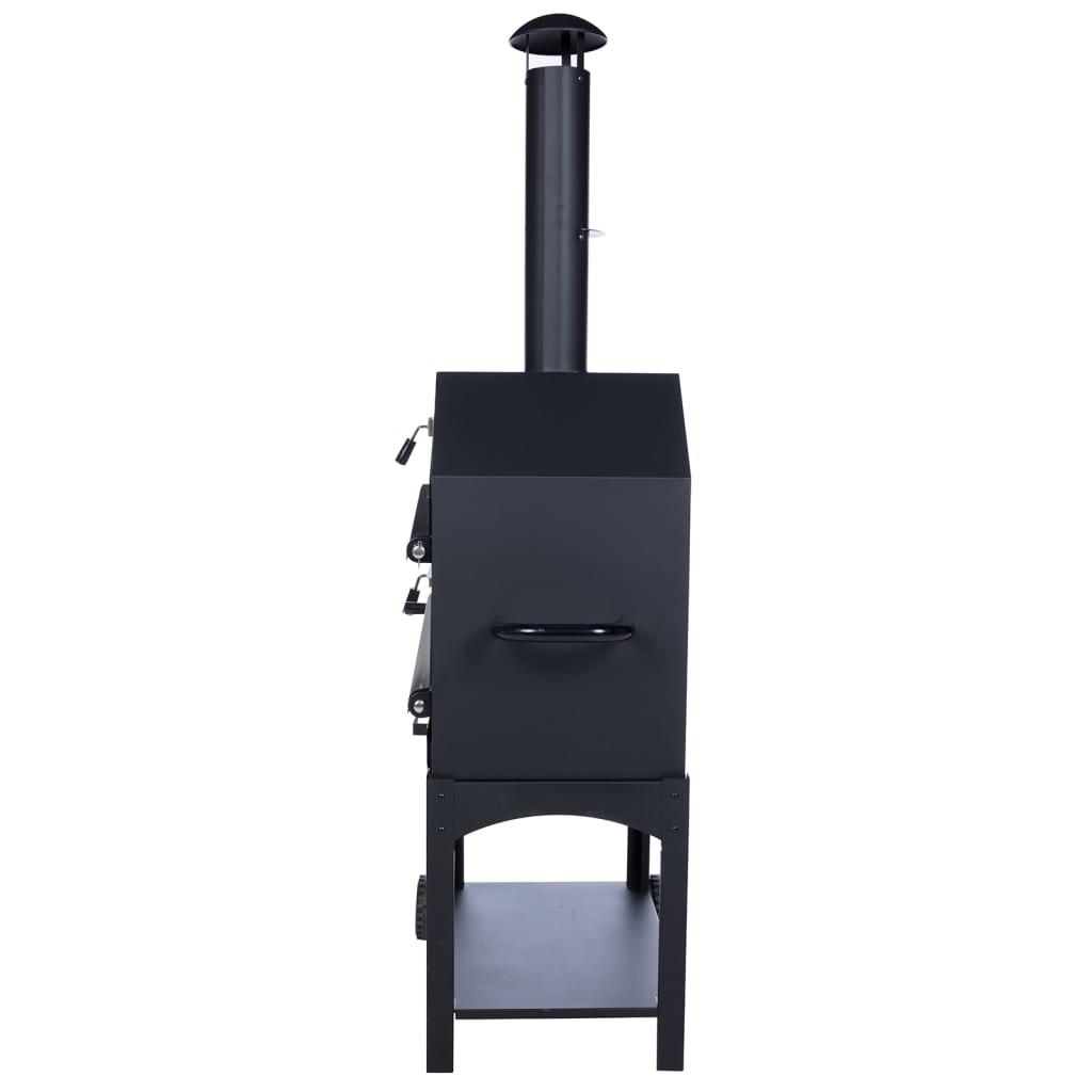 bbgrill outdoor pizza oven lorenzo black lor17. Black Bedroom Furniture Sets. Home Design Ideas