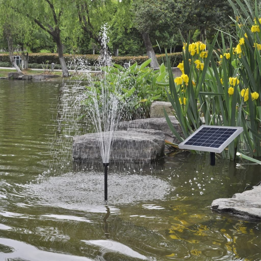 Solar panel pond pool water pump fountain for Pond with fountain