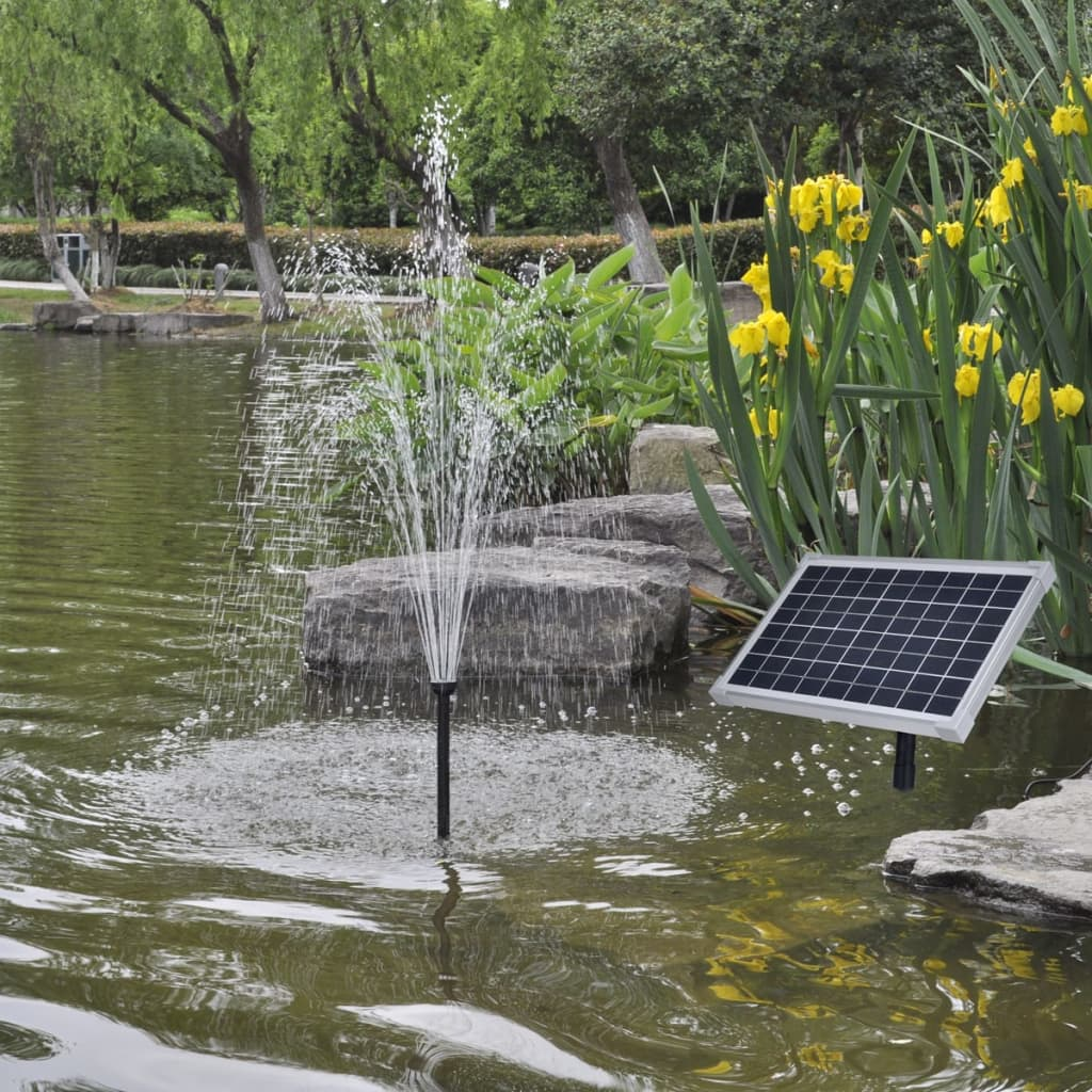 Solar panel pond pool water pump fountain for Pond water fountains