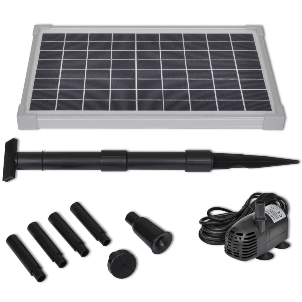 Solar panel pond pool water pump fountain for Pond pump kit