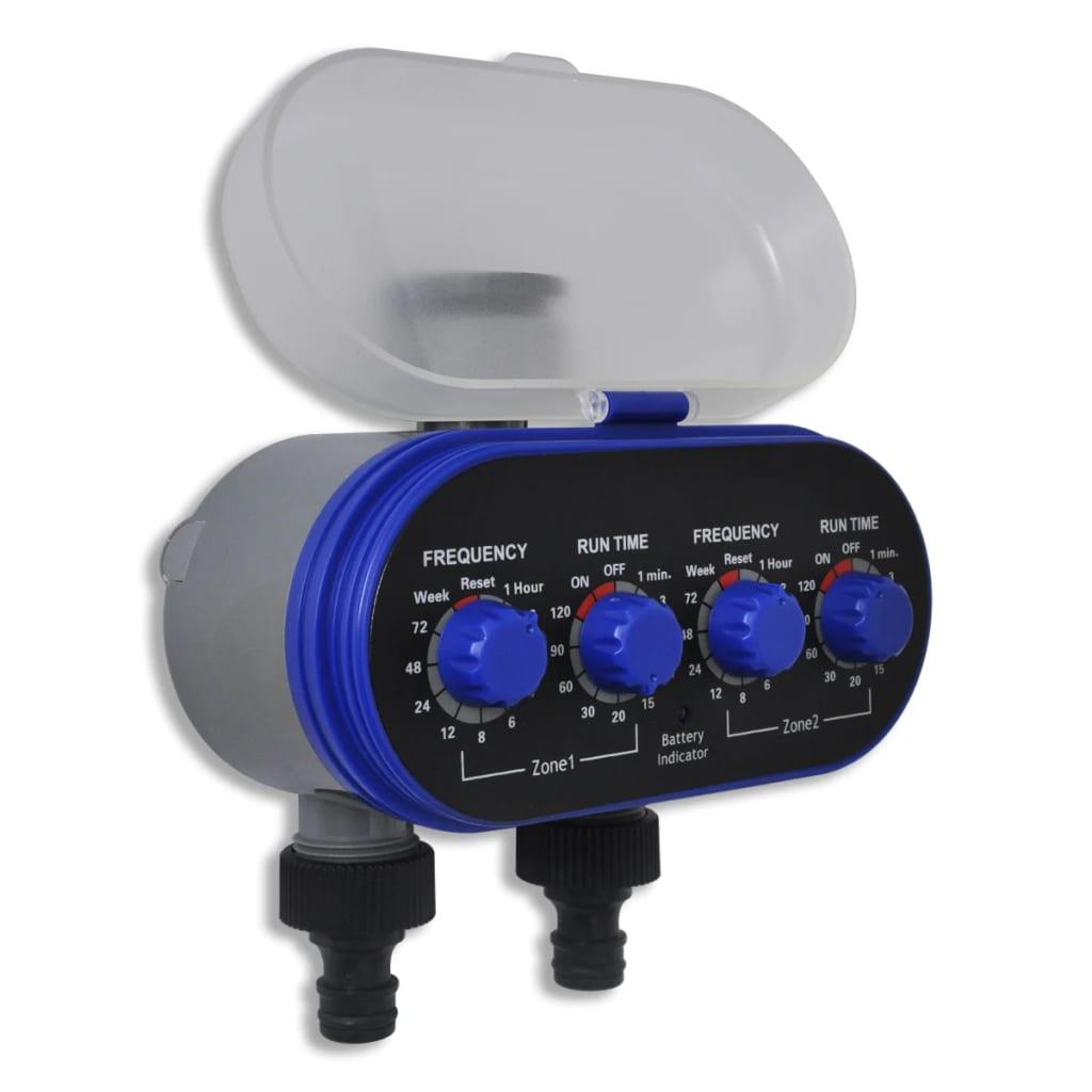 Elektronisk automatisk bevattningstimer med dubbla utgångar