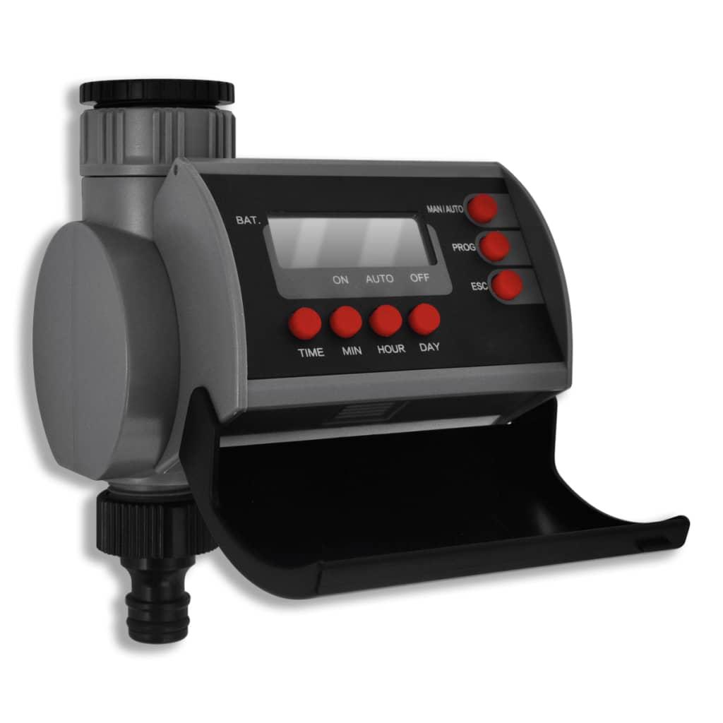Programador de riego autom tico con una salida y pantalla for Programador riego automatico