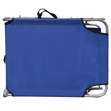 Klappbare Sonnenbank mit blauem Dach 189 x 58 x 27 cm[6/6]