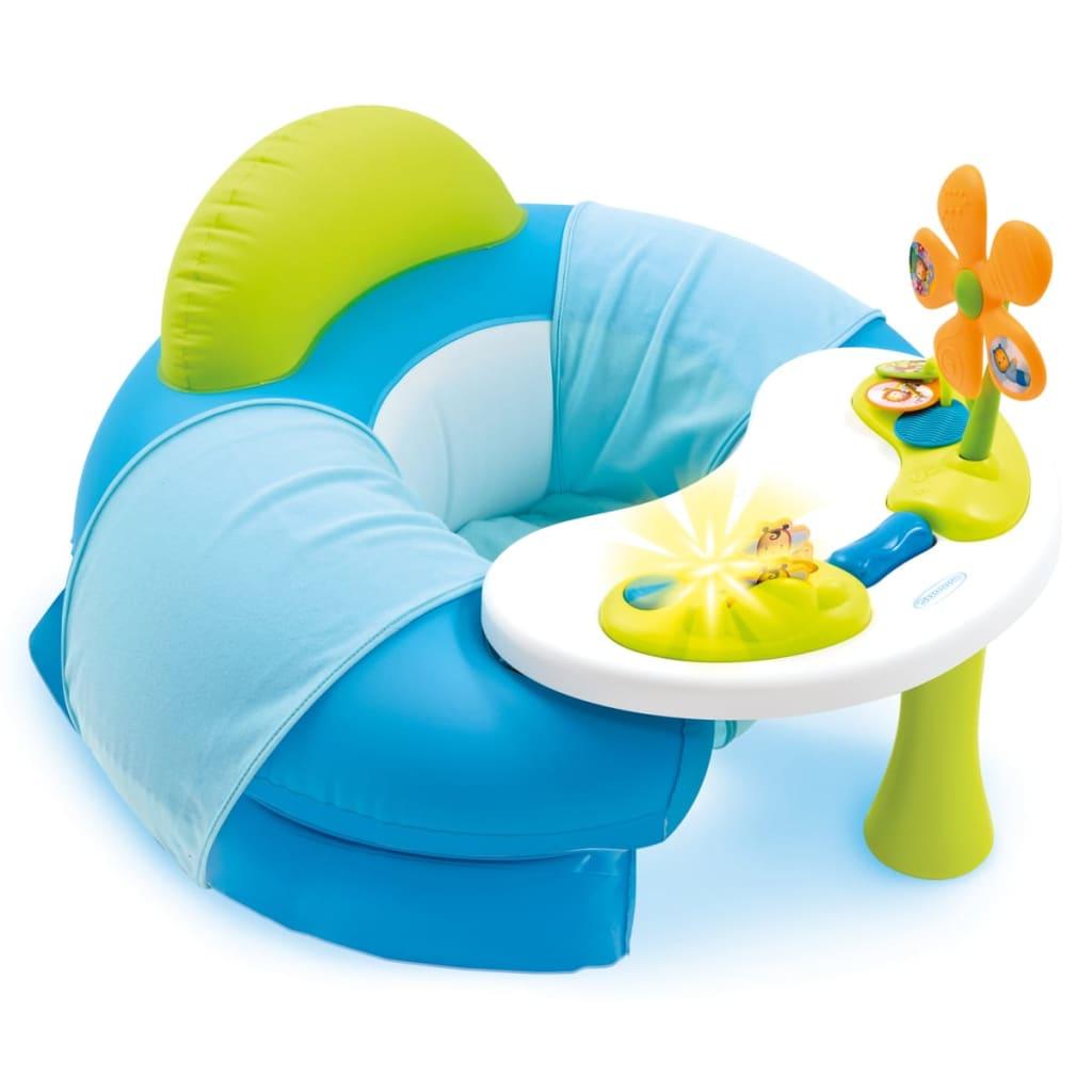 Afbeelding van Smoby Cotoons Opblaaszitje met speelblad blauw 110210