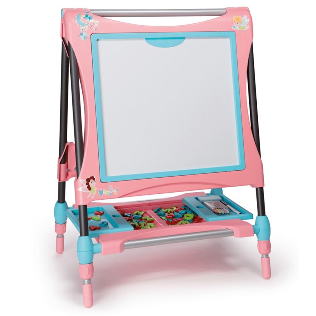 acheter smoby double chevalet r glable pour enfants rose. Black Bedroom Furniture Sets. Home Design Ideas