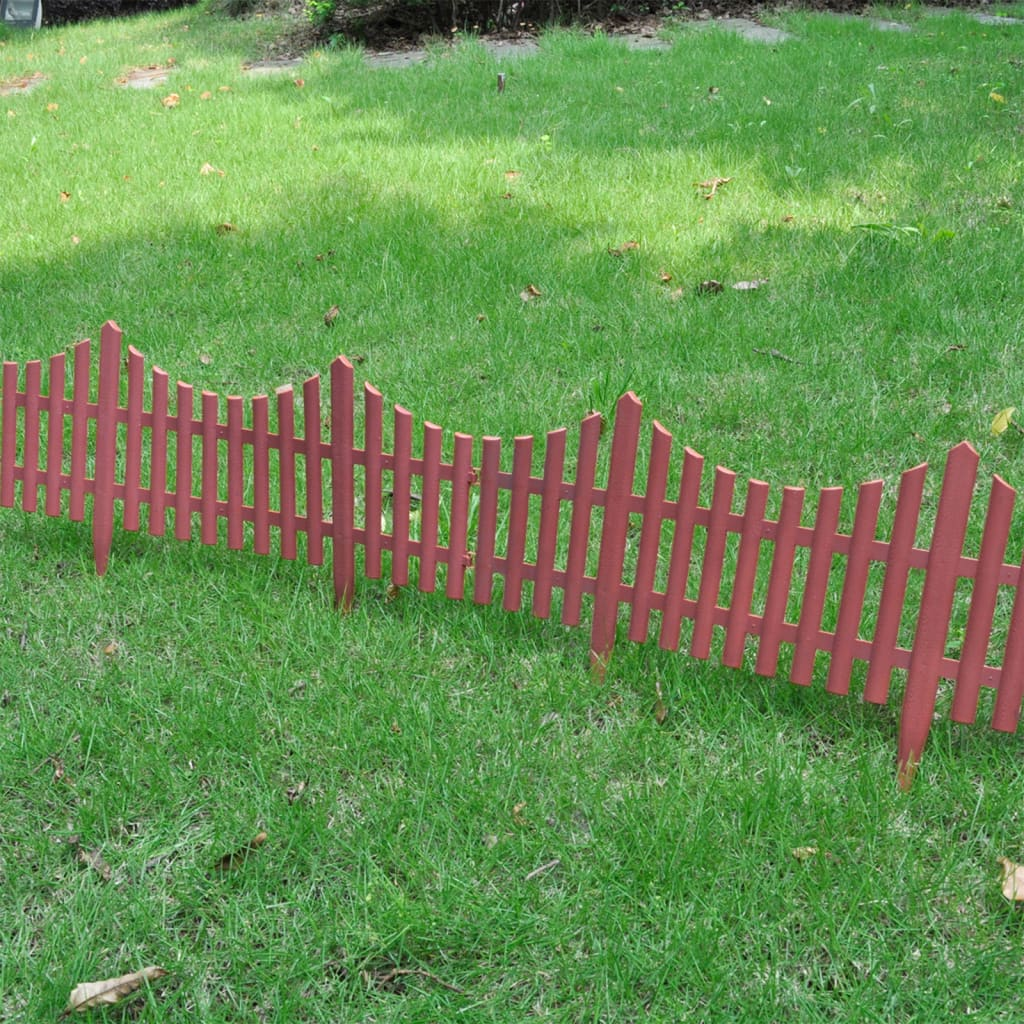 Brown lawn divider 17 pcs 10 m for Lawn divider