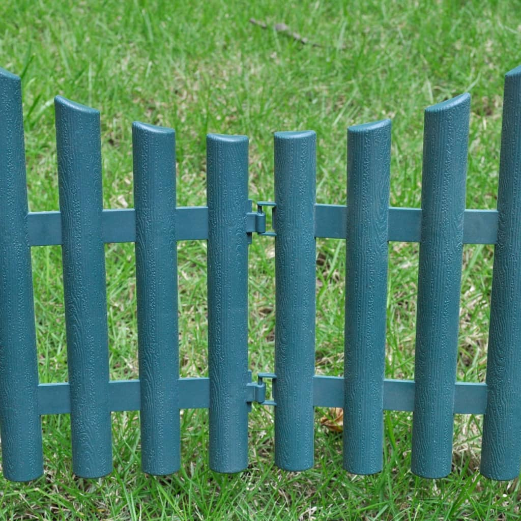 Green lawn divider 17 pcs 10 m for Lawn divider