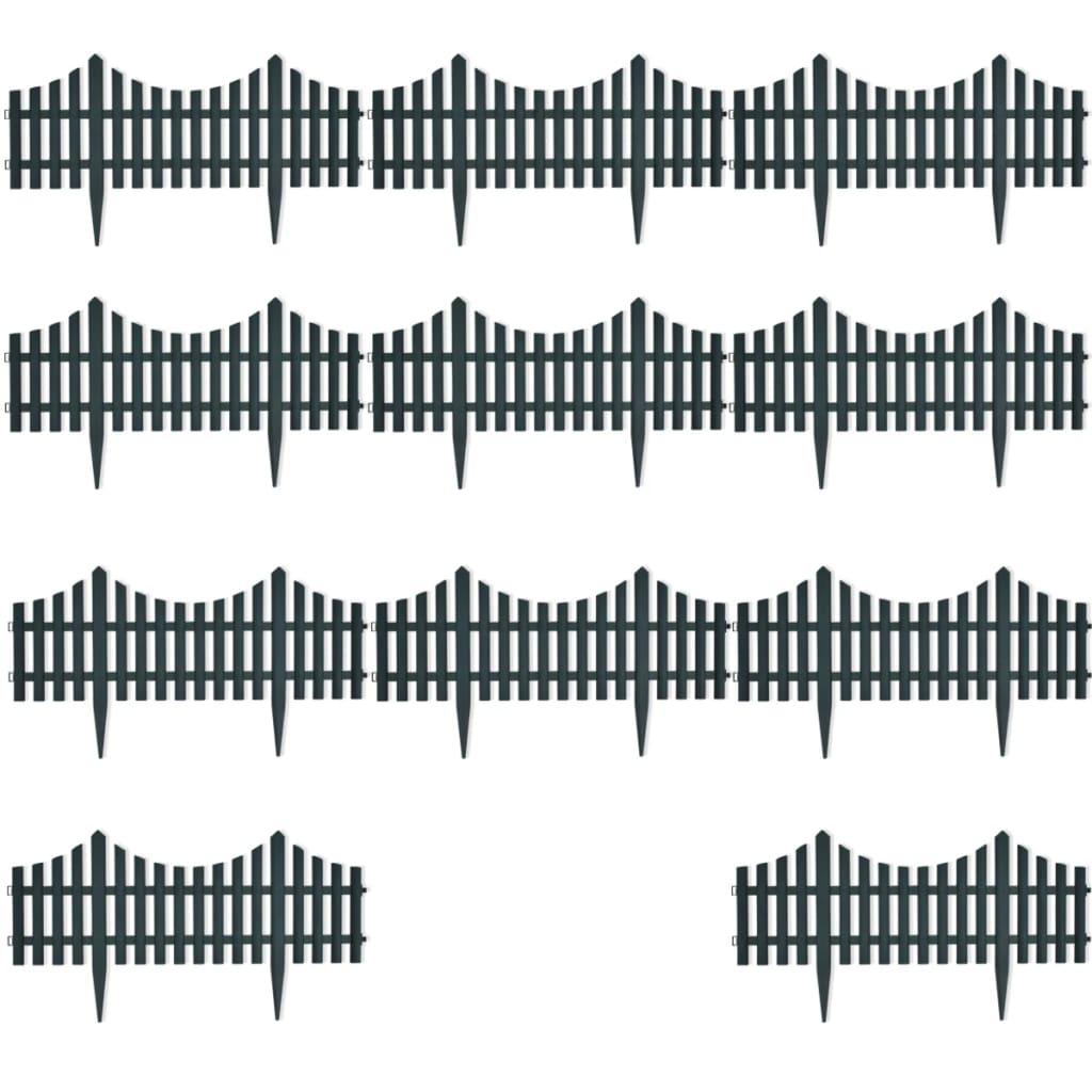 green lawn divider 17 pcs 10 m. Black Bedroom Furniture Sets. Home Design Ideas