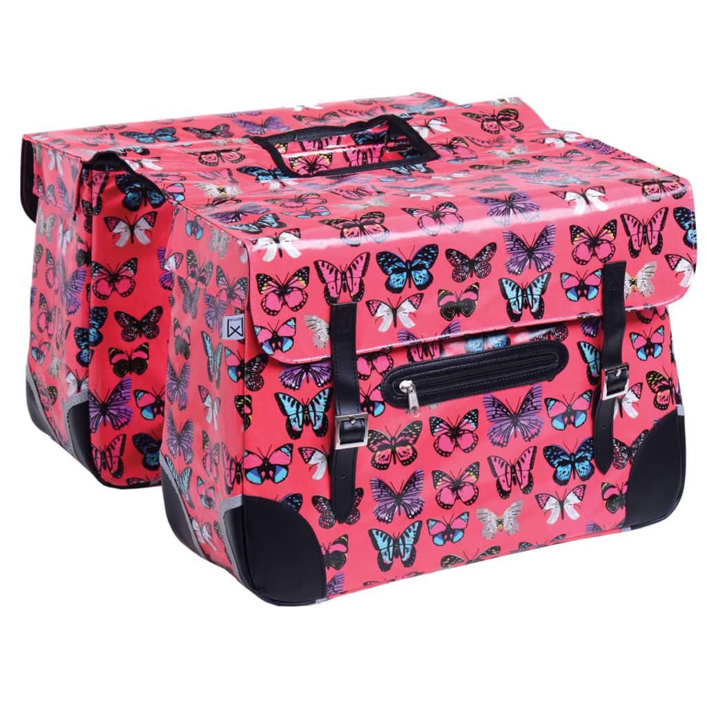 Fietstas Roze : Willex fietstas l roze vlindermotief