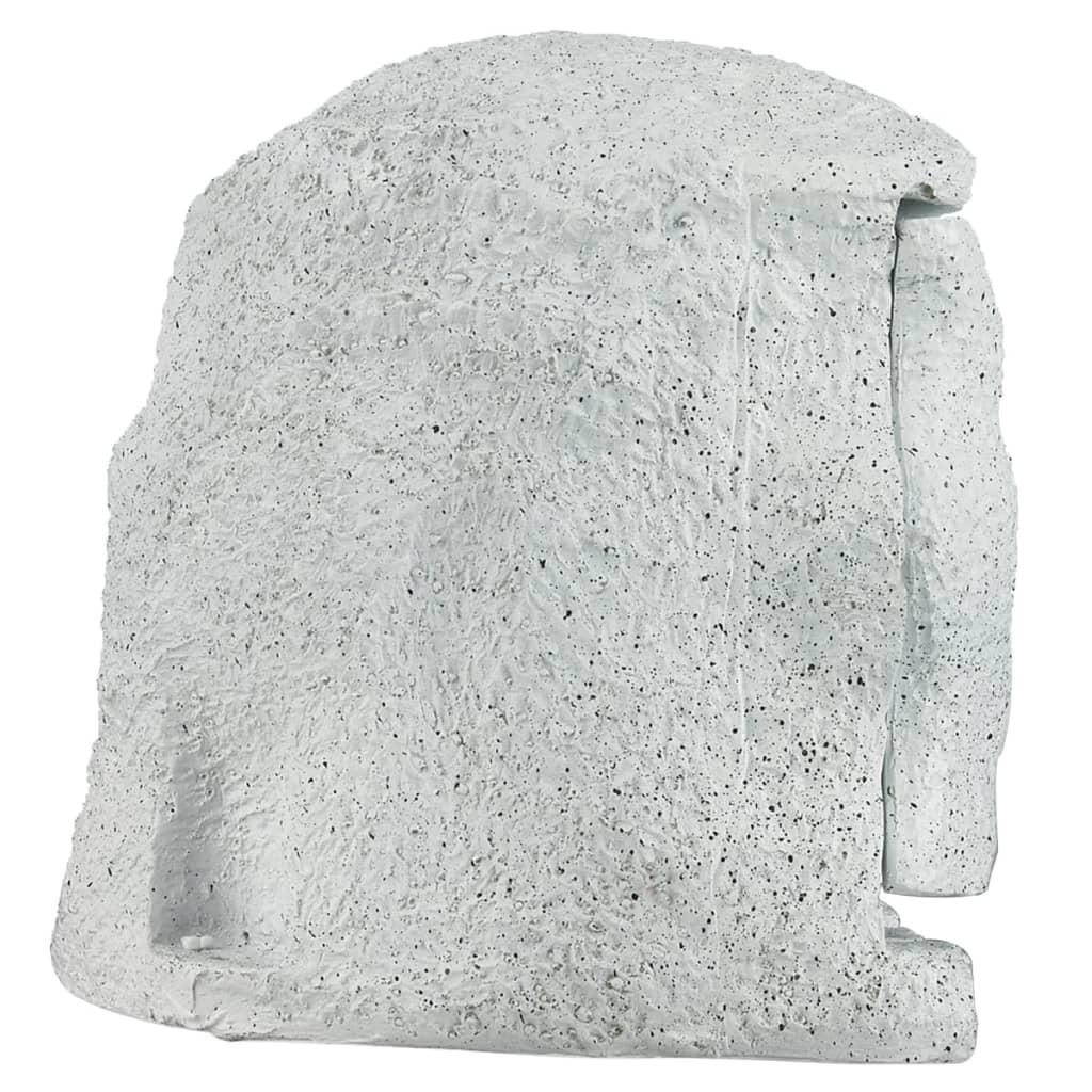 Acheter borne lectrique de jardin imitation pierre avec - Borne electrique de jardin avec prise ...