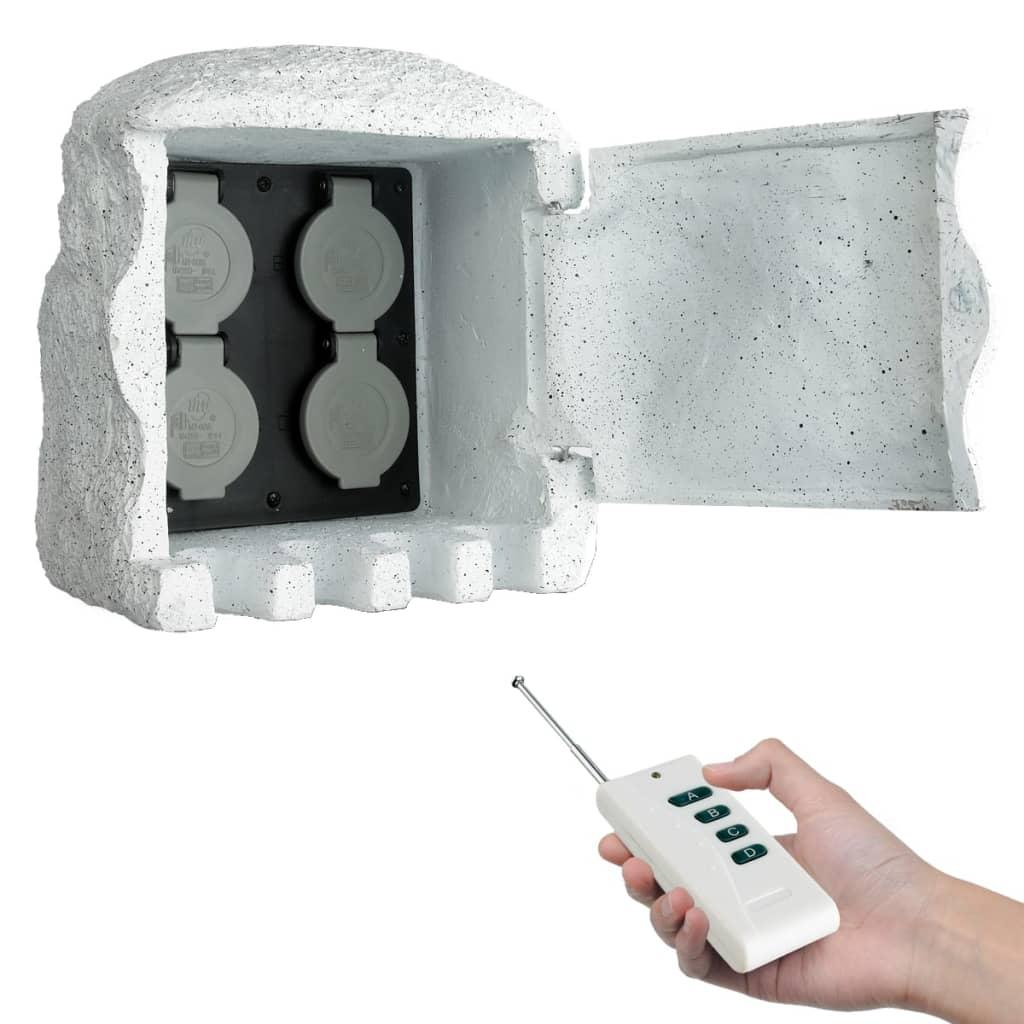 Enchufes para el jard n imitaci n piedra de granito tienda for Piedras de granitos