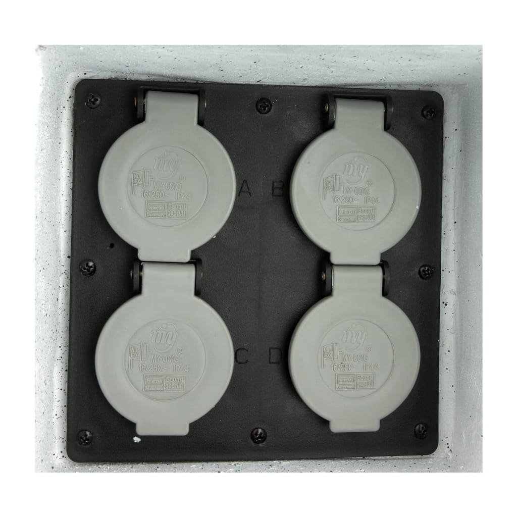 faux stone garden socket with remote control. Black Bedroom Furniture Sets. Home Design Ideas