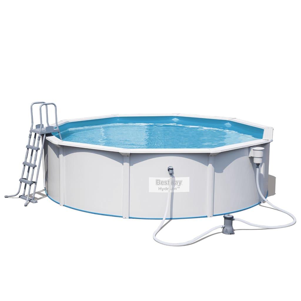 Afbeelding van Bestway zwembad Jersey rond en grijs 460 cm 56382