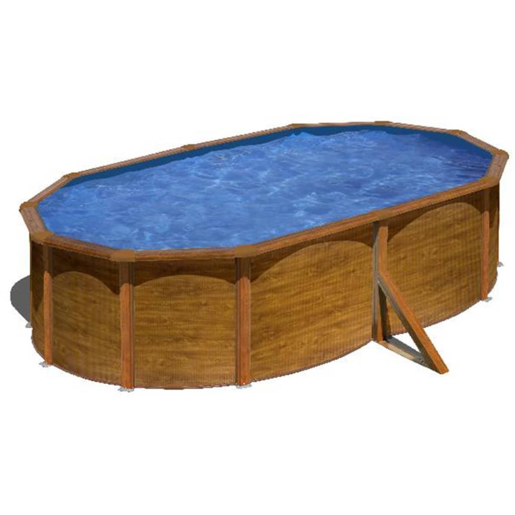 Acheter gre piscine pacific ovale marron 500 x 350 cm for Piscine ovale pas cher